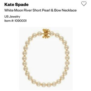 Kate Spade short pearl necklace